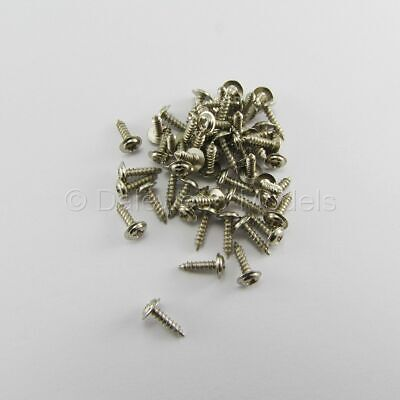 50 Self Tapping Machine Screws M1.7 X 8mm Phillips Head W/Shoulder Flange • 3.45£