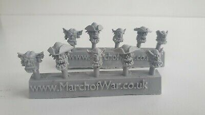 Pirates Orcs 10 Heads Ork Freebooters  • 6.95£