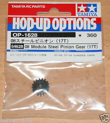 Tamiya 54628 08 Module Steel Pinion Gear (17T) Fighter Buggy/Mad Bull/DT02/DT03  • 5.95£