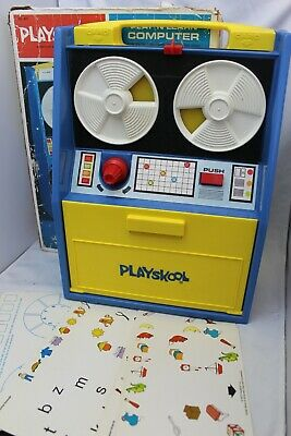 Vintage 1972 Playskool Play 'N Learn Computer Toy Retro Boxed Complete 6 Cards • 24.95£