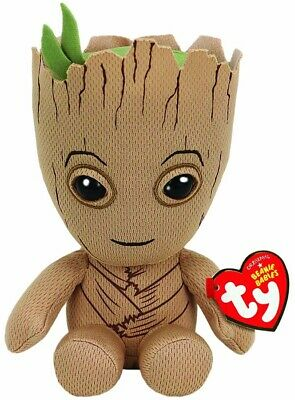 TY BEANIE -GROOT MARVEL  6  Plush Soft Toy 41215 • 8.49£