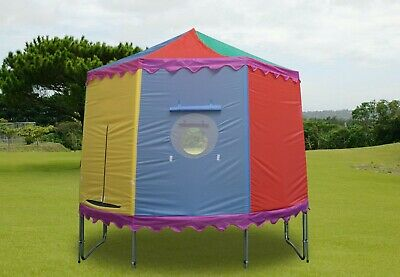10ft 4 Or 8 Pole Trampoline Tent Cover Playhouse - TRAMPOLINE NOT INCLUDED • 124.99£