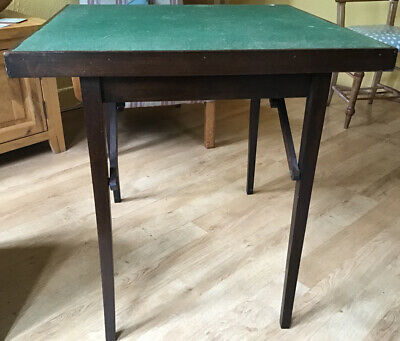 Antique Baize Covered Folding Card Table  • 28£