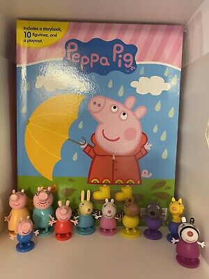 Peppa Pig Busy Book - Story 10 Figures Free P+p - Uk Stock - Brand New • 11.99£