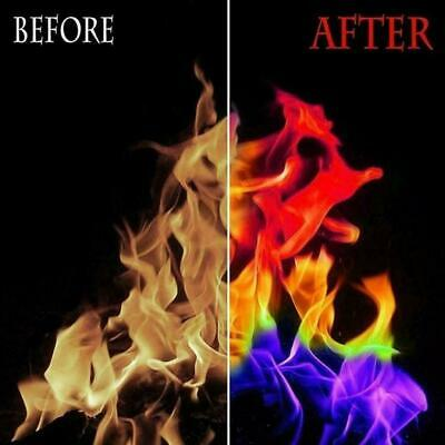 Magic Fire Powder Creates Colours In Flames Light Show Burn Fireworks Bonfire UK • 1.99£