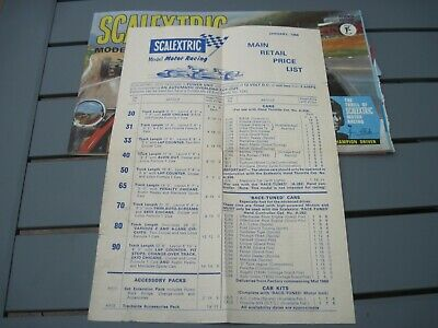 Scalextric 1966 Catalogue 7th Edition PLUS Price List. • 6£