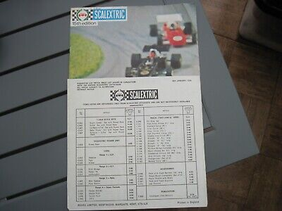 Scalextric 1974 Catalogue 15th Edition PLUS Price List. • 6£