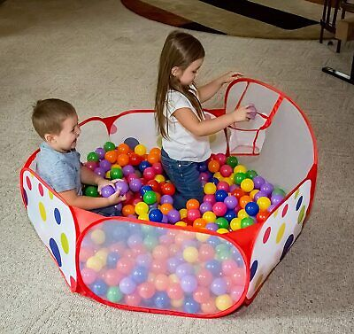 Ball Pit Pop Up Children Play Tent, Ocean Pool Baby With Basketball Hoop Gifts • 6.99£