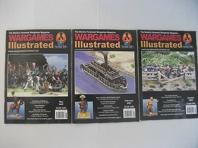 Wargames Illustrated Magazine X 3, Feb 2007, May 2007, Jan 2008. • 6.99£