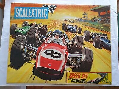 Vintage Scalextric 12E Set With Speed Banking In Original Box • 100£