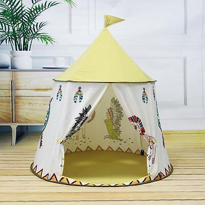 Indian Tent Kids Teepee Childrens Indoor Outdoor Play House Pop Up Playhouse New • 20.99£