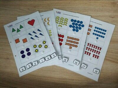 Hand Made Matching Numbers To Amounts, Counting, Numbers. School, Nursery,... • 6.50£