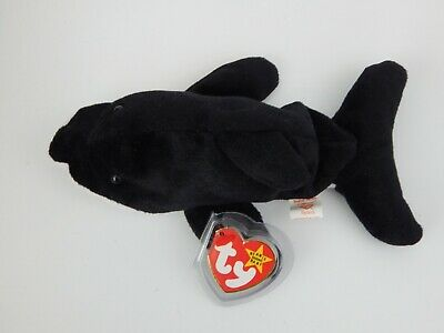 Ty Beanie Baby Splash The Whale 1993 Retired Tag Protected • 10£