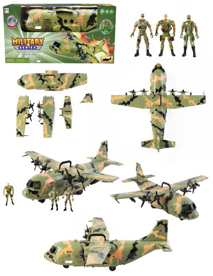 Cargo Combat Troops Cargo Plane Airforce Bomber Military Plane Army Figures UK • 24.99£