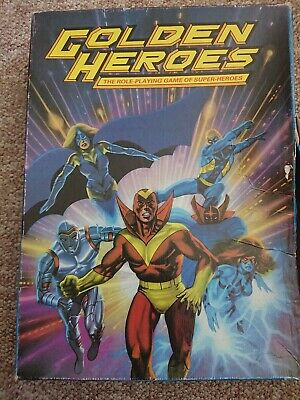 Golden Heroes Role Playing Game RPG Games Workshop 1984 Vintage Super Condition • 25£