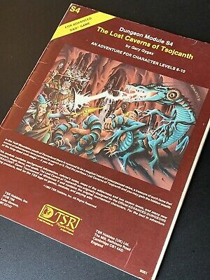 The Lost Caverns Of Tsojcanth S4 AD&D  Dungeons Dragons Fantasy Module 1982  • 29£