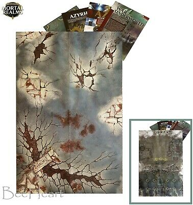 MORTAL REALMS Double-Sided 35  X 23  GAMING MAT > Plus Information Sheets, Ruler • 3.99£