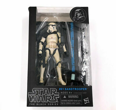 Star Wars Black Series - 6  Sandtrooper Trooper #01 Hasbro - NEW BOXED • 19.99£