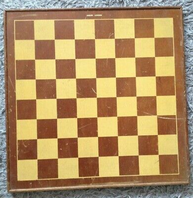 VINTAGE JAQUES LONDON CHESS BOARD  45 Cm SQUARES OF 50 Mm NO PIECES • 50£