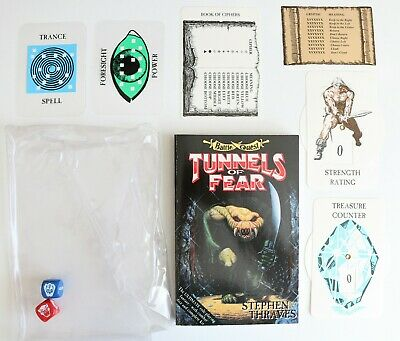 Book Adventure Game - Battle Quest - Stephen Thraves Tunnels Of Fear 1992 VGC • 44.99£