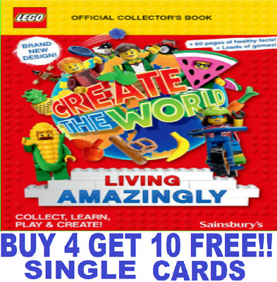 Sainsburys LEGO CREATE THE WORLD Cards 2020 Living Amazingly BUY 4 GET 10 FREE!! • 0.99£