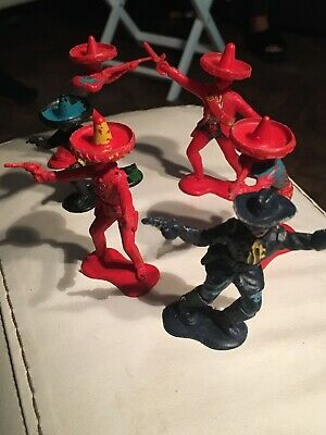Vintage Crescent Mexicans 60mm Toy Soldiers X6 • 6£