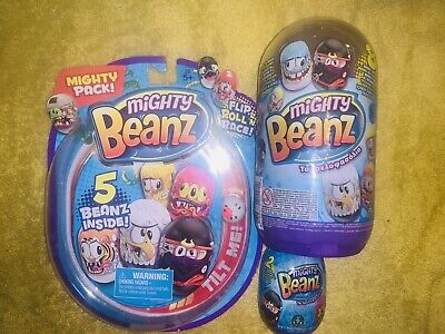 AWESOME! Mighty Beanz Bundle! Slam Pack, Mighty Pack & Capsule! Bargain!  • 12.49£