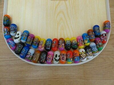 34 X MIGHTY BEANZ Magnetic Picture Beanz 1.25 Ins High • 1.99£
