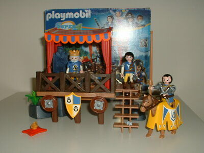 Playmobil Castle Knights - Royal Tournament Stand With King & Knights - New. • 22.50£