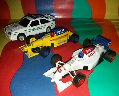 3 X Scalextric Cars - Cosworth Police Car, Greenhills Team Avon, Sally Ferries • 19.99£