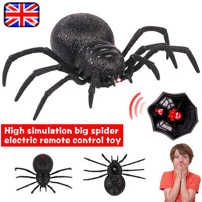 Remote Control Creepy Scary Spider RC Simulated Spider Kid Terrifying Toy Black • 10.99£