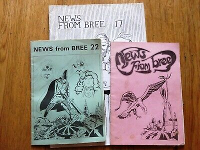 RPG Fanzine : News From Bree : 3 Issues 1977-8 • 2.99£