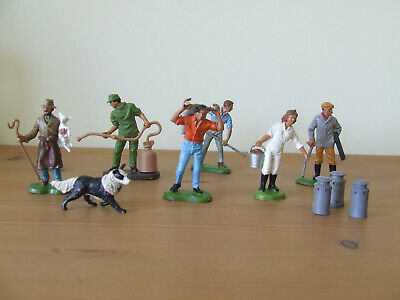 Britains Farm Workers + Accessories Made In England (Lot 1) • 14£
