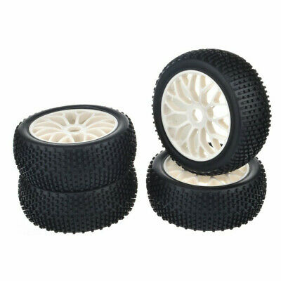 4PCS 1/8 RC Car Buggy Rubber Tire Off Road Wheel For RC Car HSP Tamiya Kyosho • 16.99£