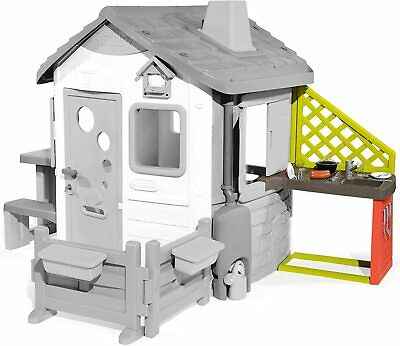 Smoby 810901 Kitchen For Play House, Lots Of Accessories Sink, Grill RRP £39.99 • 32£