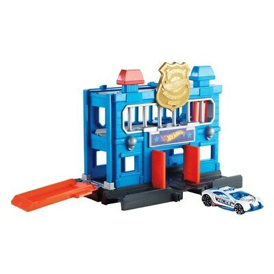 Hot Wheels City Downtown Police Station Breakout Playset Fuel Kids' Imagination • 17.99£
