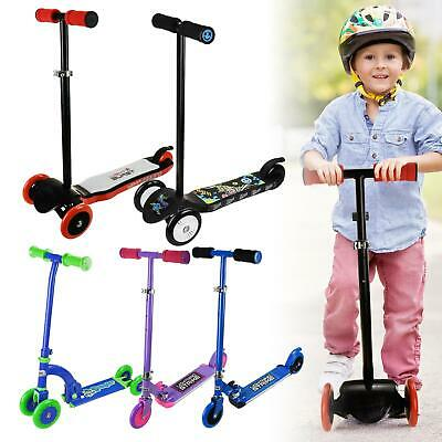 Kids Micro Scooter For Boys Girls Push Kick 3 Wheel Adjustable Folding Bar • 20.95£