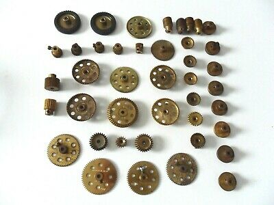 MECCANO BEVEL GEARS 30 30a 30c 60 TOOTH PINIONS CONTRATE + BRASS PARTS  • 45£