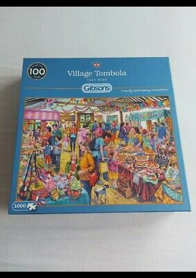 Gibson ( Village Tombola ) 1000 Pieces Jigsaw Puzzle (G6254).. USED.. • 3.80£