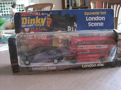 Dinky Toy 300 London Taxi, Routemaster Bus, Boxed Set • 25£