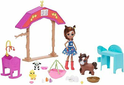Barnyard Nursery With Haydie Horse Doll & Trotter (Enchantimals) Playset • 11.96£