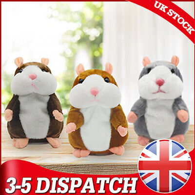 Cute Talking Hamster Plush Animal Doll Sound Record Repeat Educational Toys Gift • 7.59£