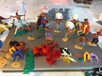 Lot Of Vintage Timpo Native American Indians + Spares • 16£