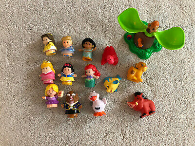 FISHER PRICE LITTLE PEOPLE DISNEY PRINCESSES And LION KING • 10£