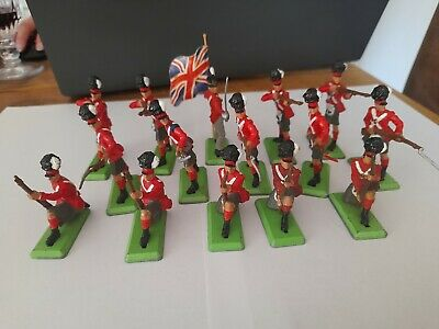 Britains Deetail Napoleonic Waterloo Scotish Infantry X 15 • 30£