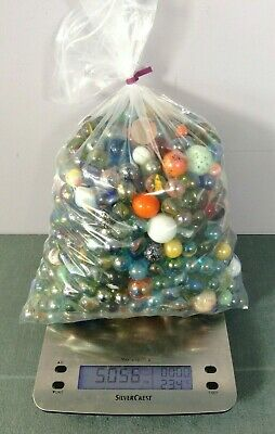 Large Bundle Of Marbles Of All Different Sizes And Colours - 5.05 Kg • 5.50£