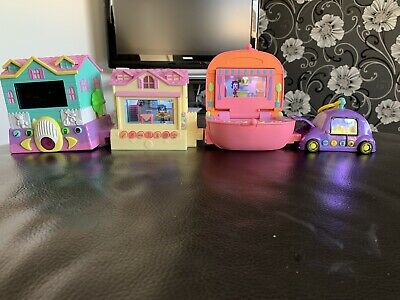 Pixel Chix 4 Items Houses & Car Bundle 2005 Mattel Ex Con  Full Working Order • 10.50£