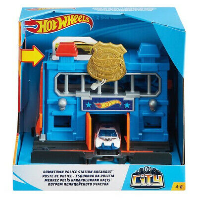 Hot Wheels City Downtown Police Station Breakout Play Set • 16.99£