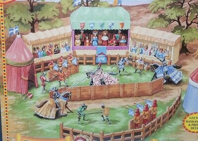 Britains 08761 Tournament Medieval Knights Diorama Set 1/32 Brand New In Box • 49£