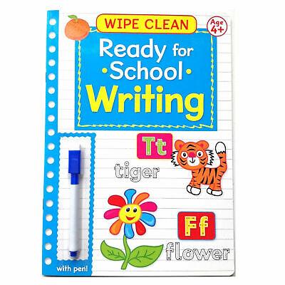 Wipe Clean Ready For School Book With Pen - Age 4+ Writing Book 2 • 3.45£